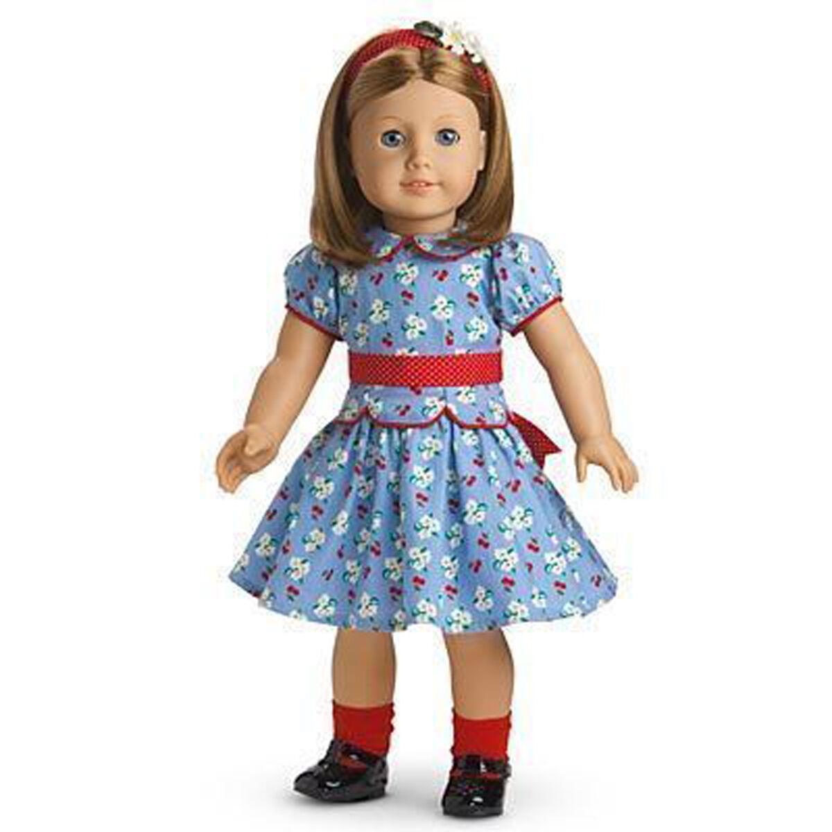 American Girl Emily Puppe 18   Molly's Bester Freund Historisches Blaue Augen