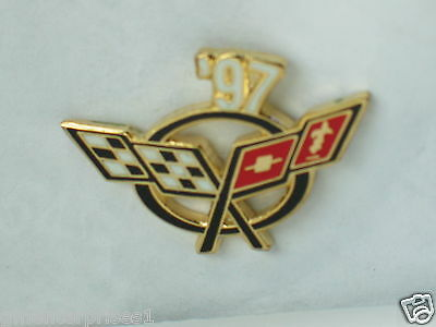 1997 Corvette Pin Chevrolet Pin Commodities Are Available Without Restriction Reversnadel Hut Tac,