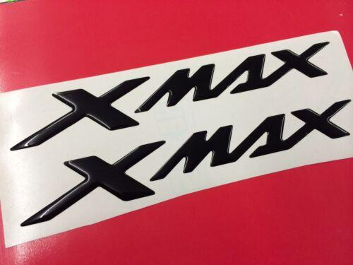 Coppia Adesivi Resinati Sticker 3D XMAX X MAX New Black