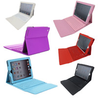 Wireless Bluetooth Keyboard Stand Pu Leather Case Cover For Apple Ipad Air 1 / 2