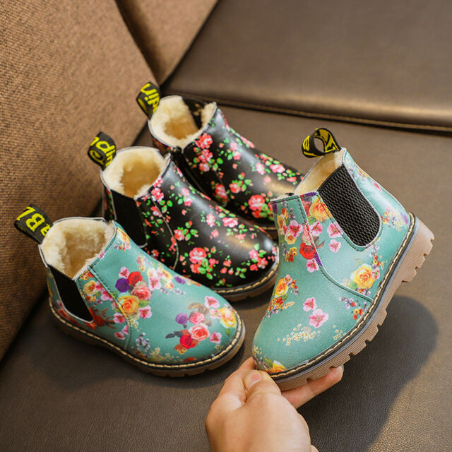 Children Boys Girls Martin Sneaker Winter Thick Snow Baby Casual Shoes