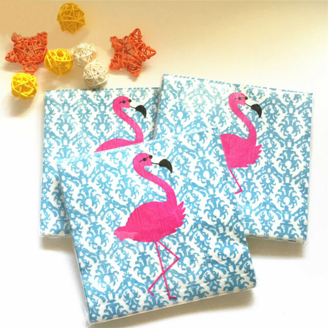 20pcs Cute Greater Pink Flamingo Paper Napkin For Birthday Party Decor Wedding