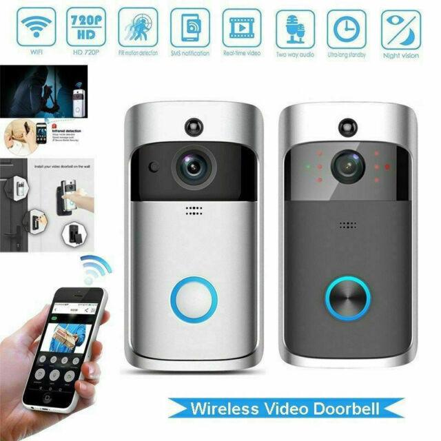 720p Home  Wireless Smart WiFi Doorbell Security Camera Phone Intercom white