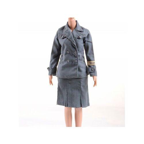 1/6 Scale WW2 German Female Women Soldiers Messager Nurse DIY Uniform Dress Suit