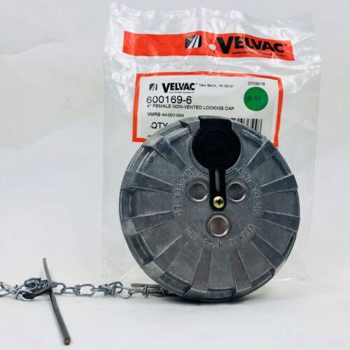 """VELVAC 600169-6 ALUMINUM LOCKING DIESEL FUEL CAP 4/""""   EFC-8386 600181-6"""