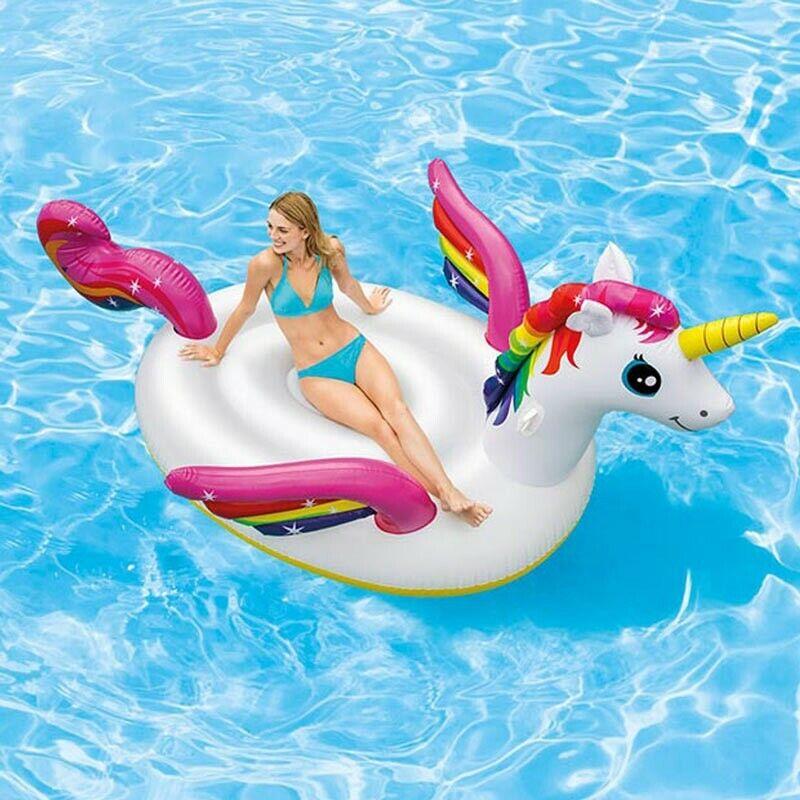 Luftmatratze Einhorn Einhorn Einhorn Intex 57281 Aufblasbar für Pool Partys e479e5