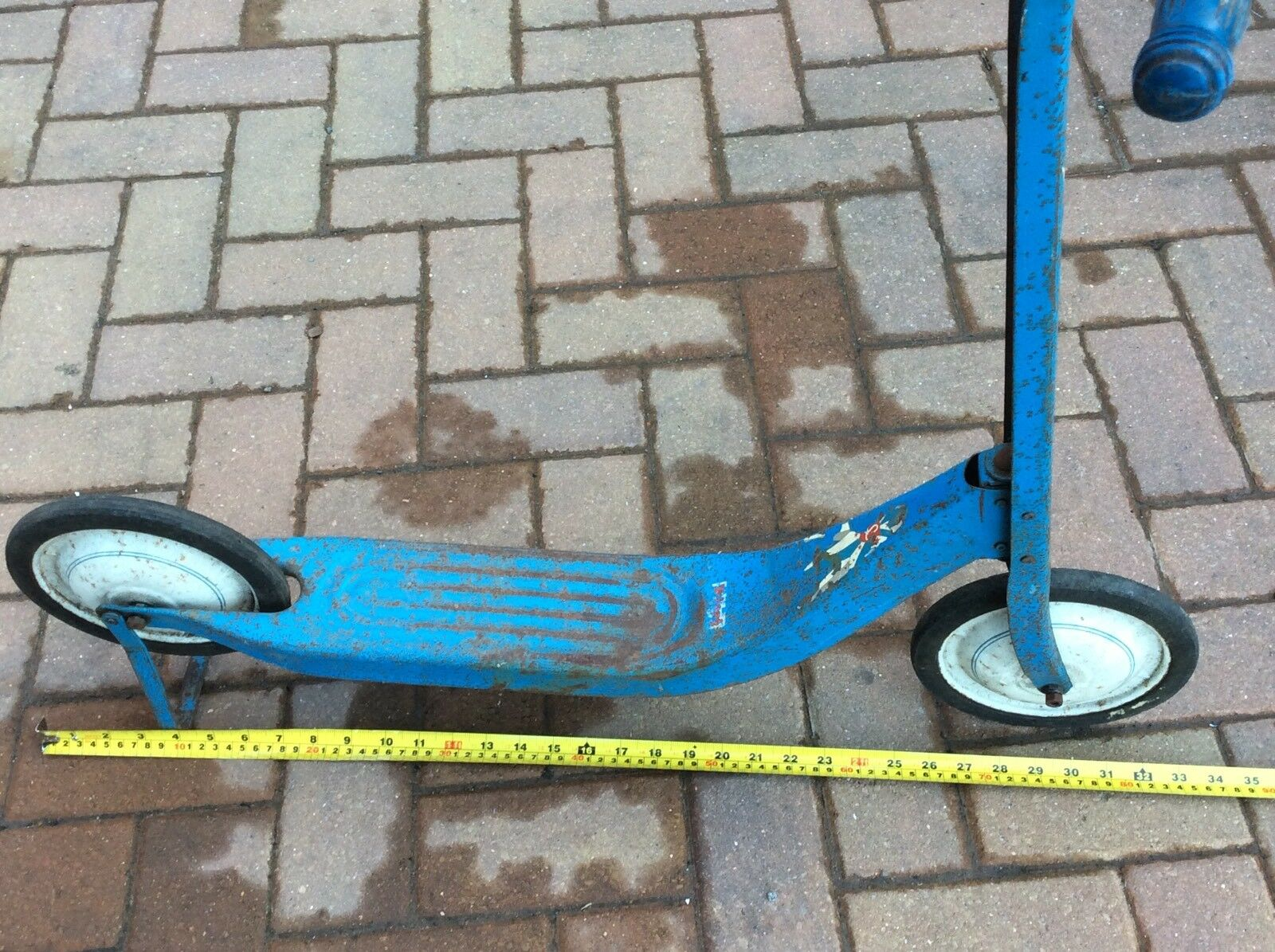 Triang Vintage bluee & & & White Pedal Scooter - (Tri-Ang) - Antique Toy d54385