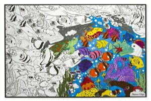 Kids-Giant-Large-Colouring-Poster-Sea-Life-Art-amp-Craft-Activity-Melissa-amp-Doug