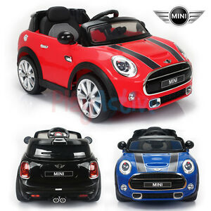 mini cooper licensed 12v kids ride on twin motor remote control car cars ebay. Black Bedroom Furniture Sets. Home Design Ideas