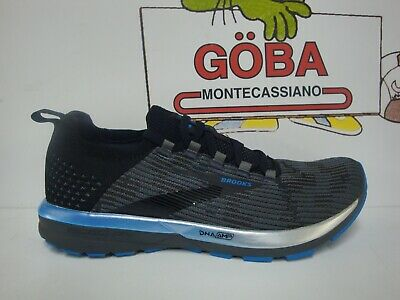 BROOKS RICOCHET 2 UOMO BLACK//GREY//BLUE Art.110315 1D 053