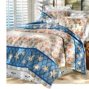 Twin queen king starfish fleece bedding set lightweight for King shams on queen bed