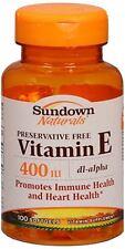 Sundown Vitamin E 400 IU Softgels DL-Alpha 100 Soft Gels