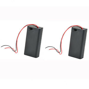 2Pcs-9V-PP3-Enclosed-Battery-Holder-Box-ON-OFF-Switch-with-Wires