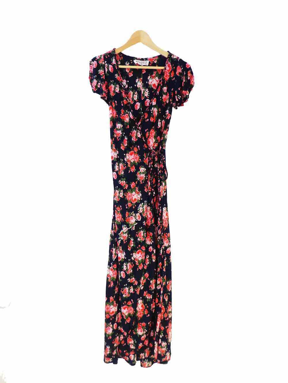 Designer South Of The Border Größe XS Floral Wrap Style Woherren Dress