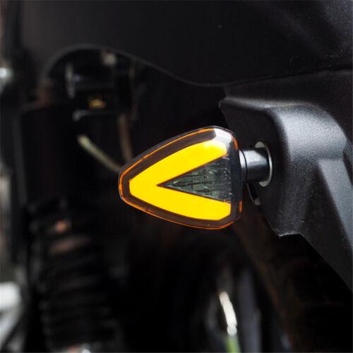 2PC Universal Motorcycle Bike Amber LED Turn Signal Indicator Blinker Light Lamp