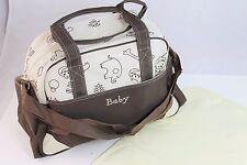 Ivory Larger Baby Diaper Nappy Changing mat Mommy Tote Handbag Bag US Seller B1