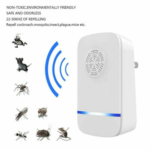 Ultrason moustique Répulsif Anti Insectes Rat Bug Pest Spider KILLER UK Plug