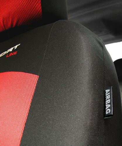 Sitzbezüge Housses de Protection Siège Auto Référence front rouge X-Line FORD KA