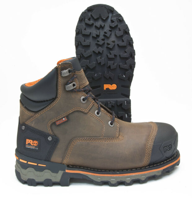 e49bc77ee613 Timberland PRO Boondock Brown Leather Comp Toe Waterproof Work Boot 92615214