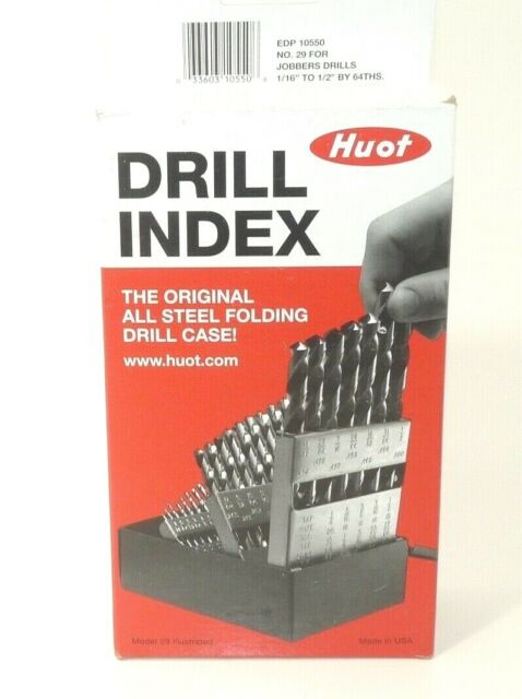 Fractional Sizes BRAND NEW 29-Piece Jobber Length Drill Set