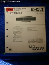 Sony Service Manual ICF C503 PLL Synthesized Kitchen Radio (#3208)