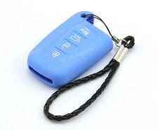Blue Remote Silicone Case Cover Holder For Kia 4 Buttons Smart Key Forte Optima