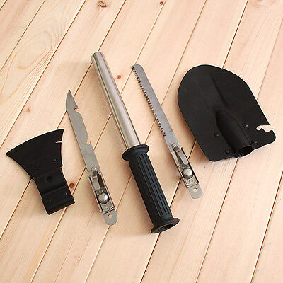 Outdoor Camping Hiking Garden Tool Survival Set Hatchet Shovel Knife Saw ax T009