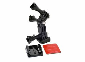 Helmet Side Mount with Pivot Arm 3M Adhesive Pads Curved Mount GoPro Compatible
