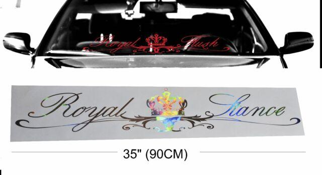"ROYAL STANCE 35"" neochrome windshield windscreen oil slick car decal sticker"