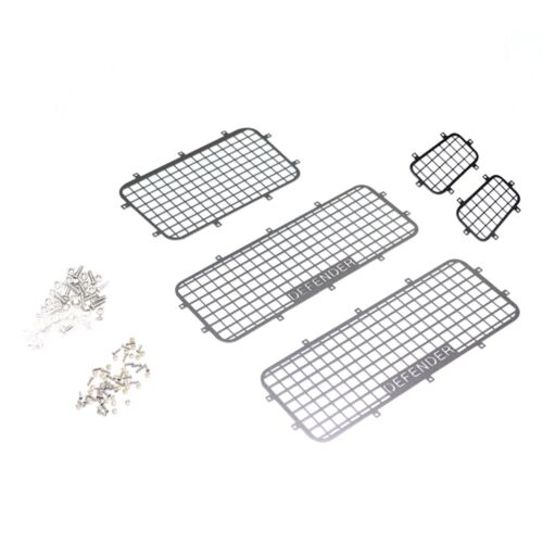 5PCS 1//10 RC Car Crawler Stainless Steel Windows Guard For Traxxas TRX4 Defender