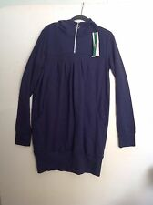 Navy Cotton Hooded Dress / Tunic Top Size 18 New with Tags