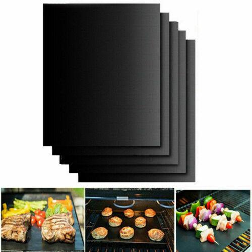 5x BBQ Mat non-stick Oven Liners Teflon Cooking Baking Reusable Sheet Pads UK