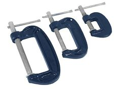 CT1968 3PC Mini G-Clamp Hobby Craft Clamp Set 25mm 50mm & 75mm Metal frames