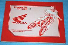 manuel d'entretien/ d'atelier revue technique Honda CR 125 R 1993