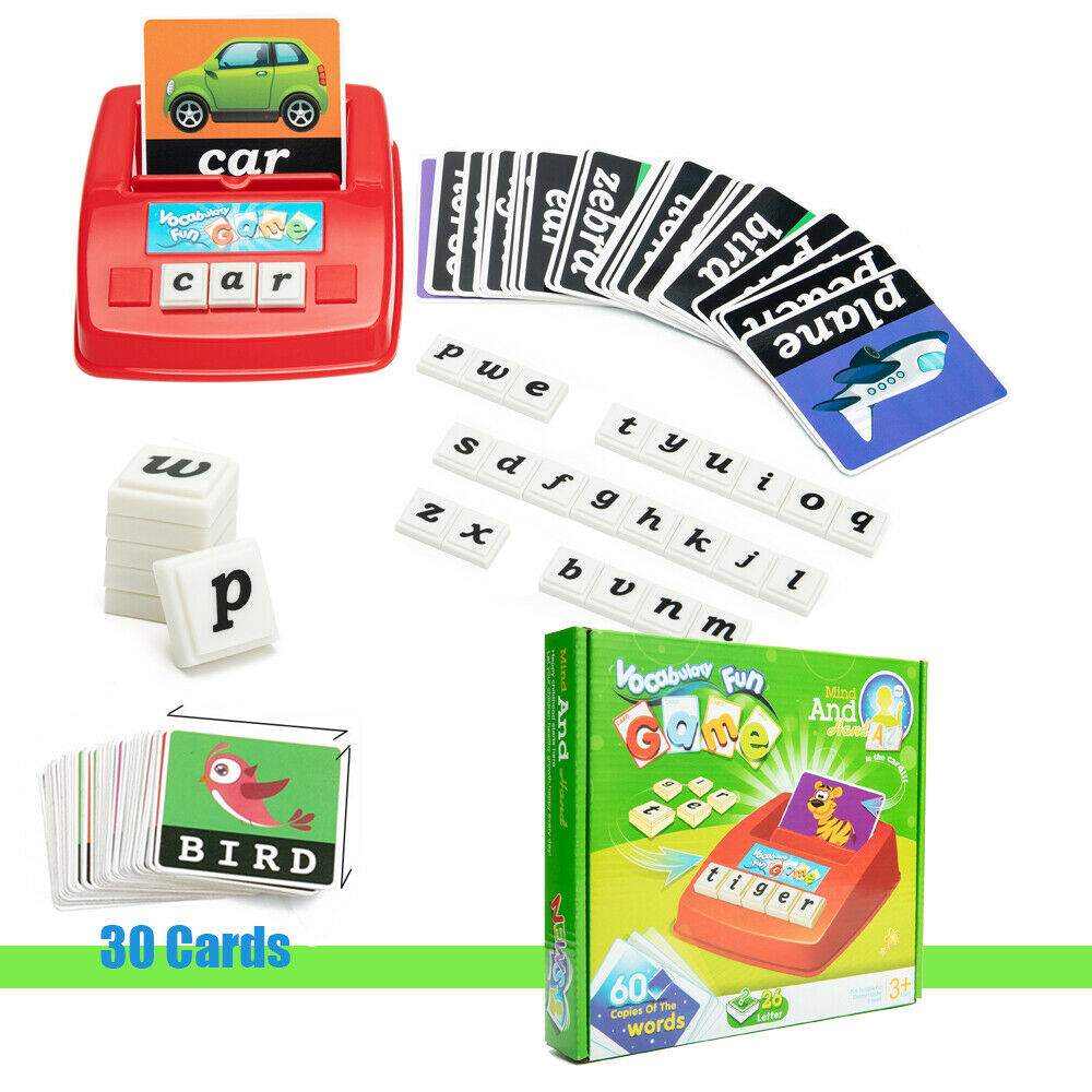 English Spelling Alphabet Letter Game Early Learning Educational Toy Kids Spell 2