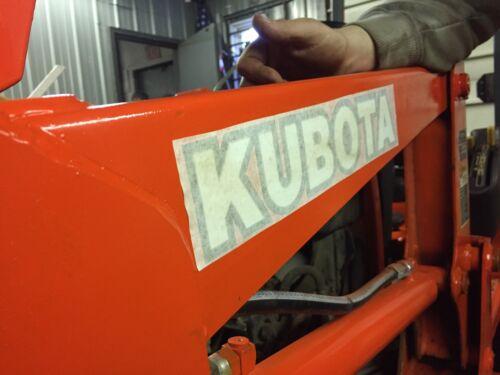 "12/"" SET OF 2 KUBOTA L BX B series TRACTOR VINYL DECAL STICKER WHITE w// black"