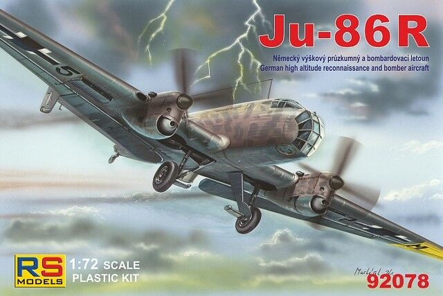 JUNKERS Ju-86 R HIGH ALTITUDE BOMBER & RECCE (LUFTWAFFE MARKINGS) 1 72 RS MODELS