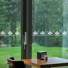 Lace Decor Glass Window Waist Line Removable Wall Stickers Viny Window Decor