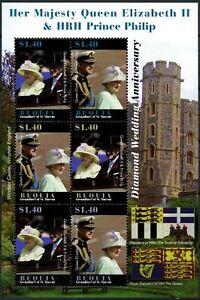 Belle Bequia 2007 Qeii Diamant Mariage Neuf Sans Charnière Sheetlet #d84661-afficher Le Titre D'origine Le Plus Grand Confort