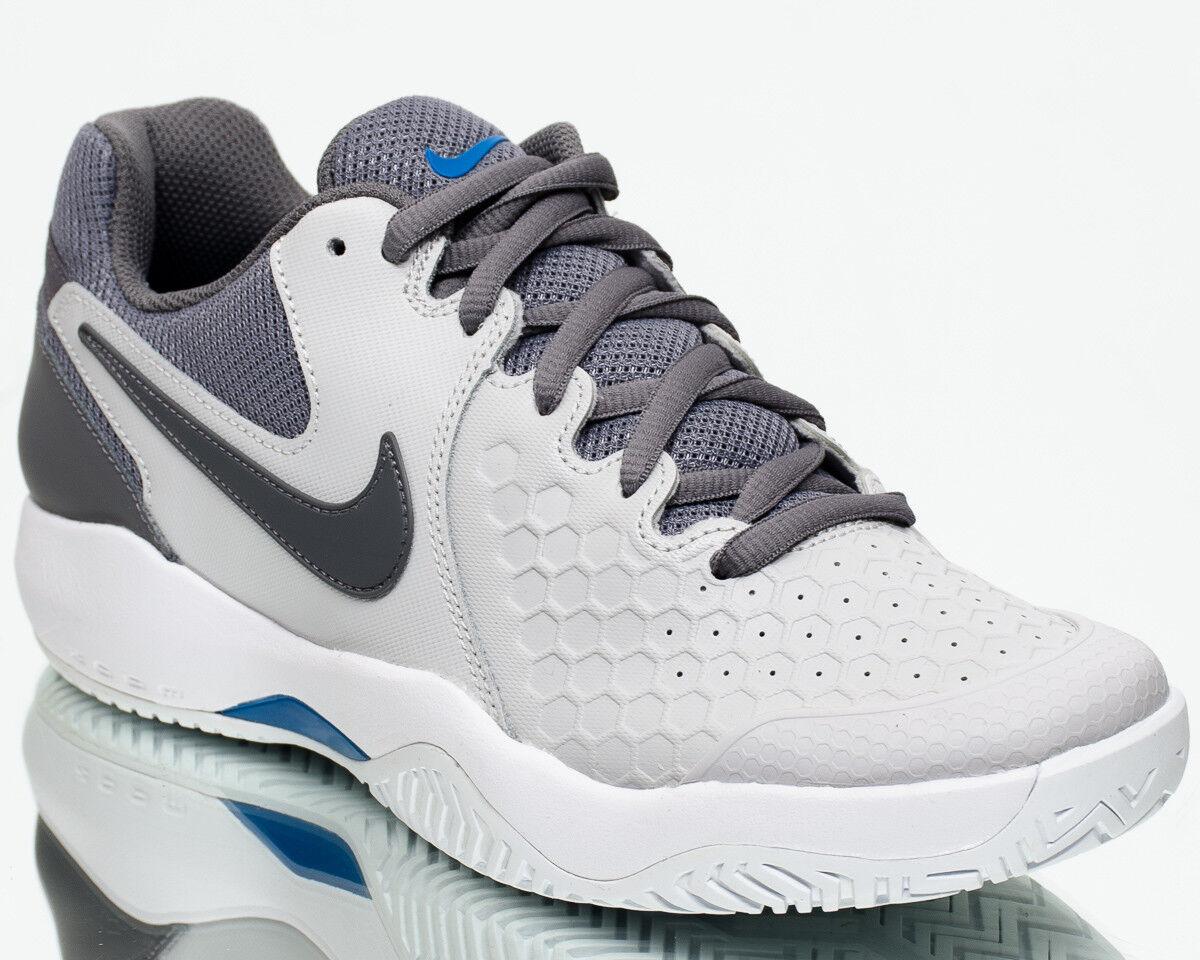 Nike Air Zoom Resistance Men Vast Grey Gunsmoke Blue Nebula Tennis 918194-044