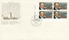 CANADA #1117 34¢ JOHN MOLSON LL PLATE BLOCK FIRST DAY COVER