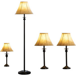 Lamp set 4 piece decoration table floor accent lamps decor lighting lamp set 4 piece decoration table floor accent lamps decor lighting home aloadofball Images