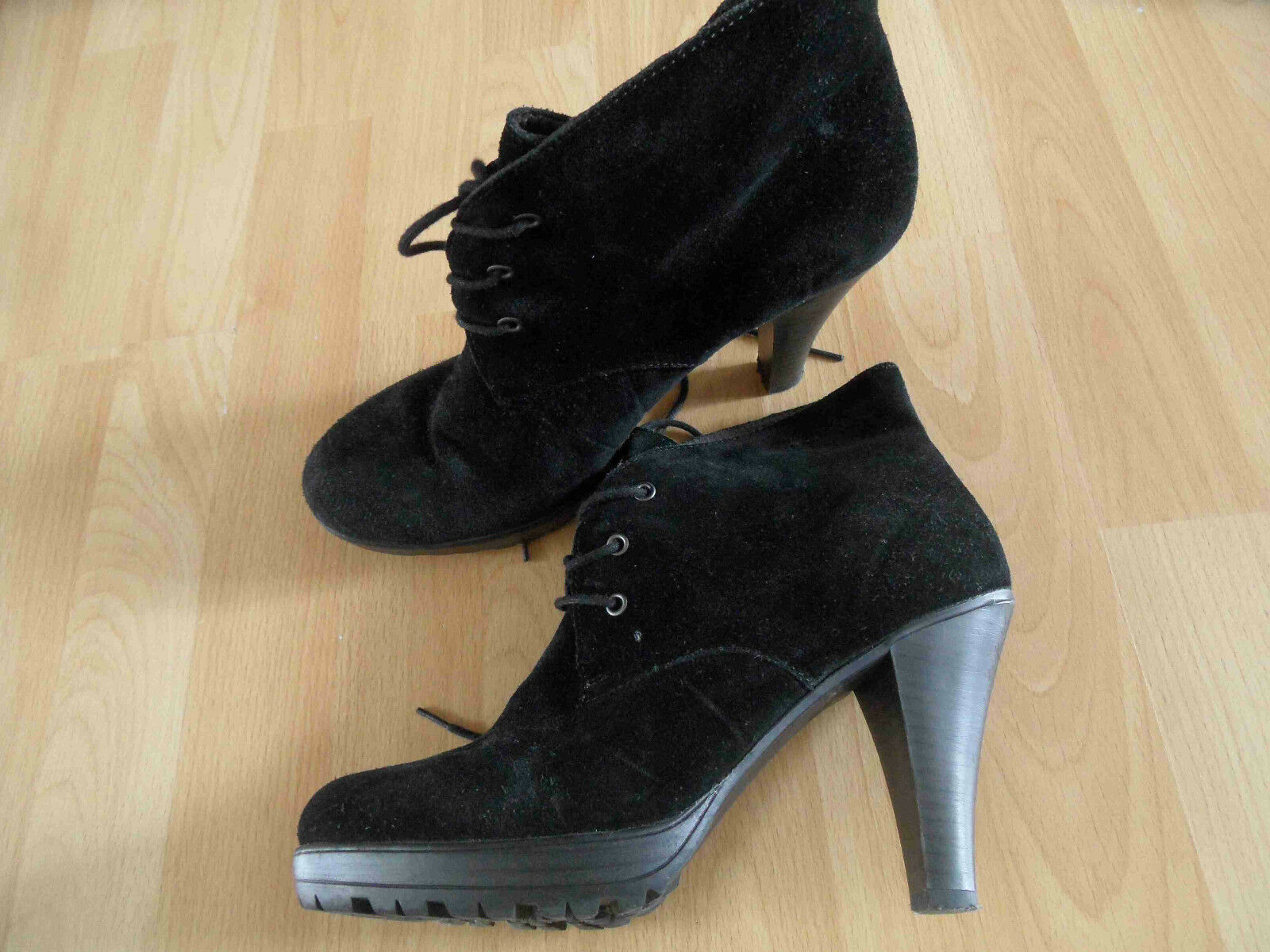 TAMARIS High Heels 41 Ankle Stiefel schwarz Wildleder Gr. 41 Heels TOP (KB814) 5fab4e