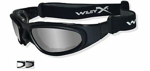 34ced99496b Wiley X SG-1 Goggles Matte Black Frame Smoke Grey   Clear Lenses ...