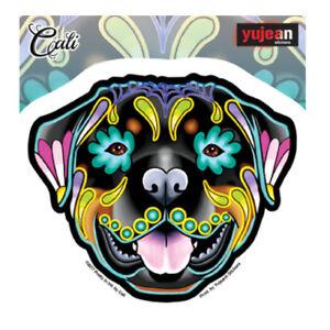 Rottweiler-Dog-Sticker-Decal-Car-Window-Laptop-Sugar-Skull-Cali-Pretty-In-Ink
