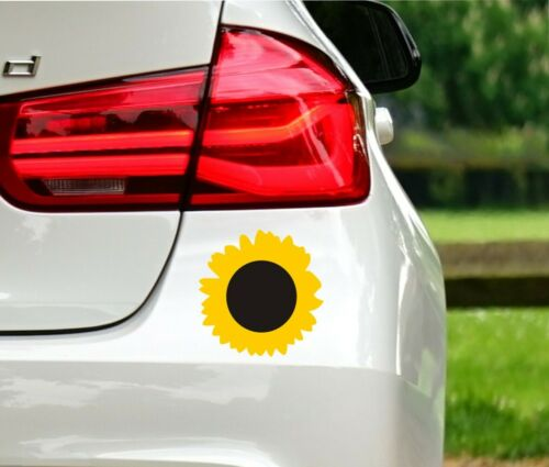 Sunflower Decal Cut in Vinyl Sticker For Car or Laptop