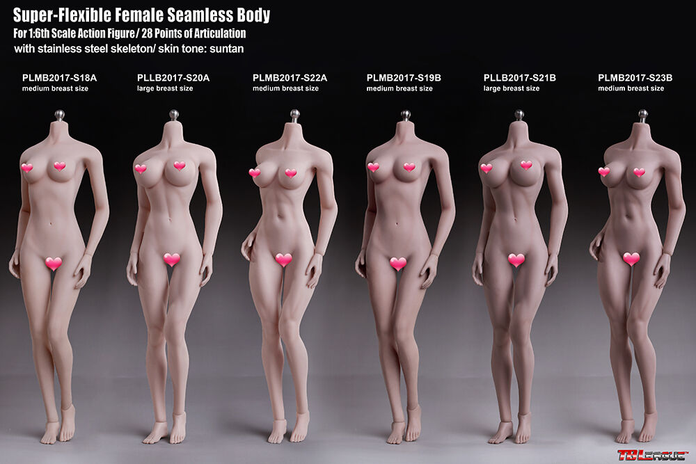 Tbleague weibliche körper modell s18a s19b s20a s21b s22a s23b blassen braun semaless