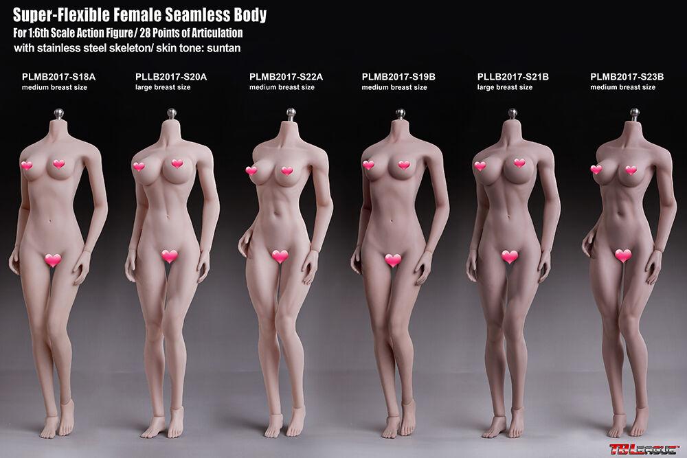 TBLeague Female Body Model S18A S19B S20A S21B S22A S23B PALE Suntan Semaless