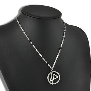 Men-Infinity-Silver-Stainless-Steel-Linkin-Park-Bank-Pendant-Chain-Necklace-New