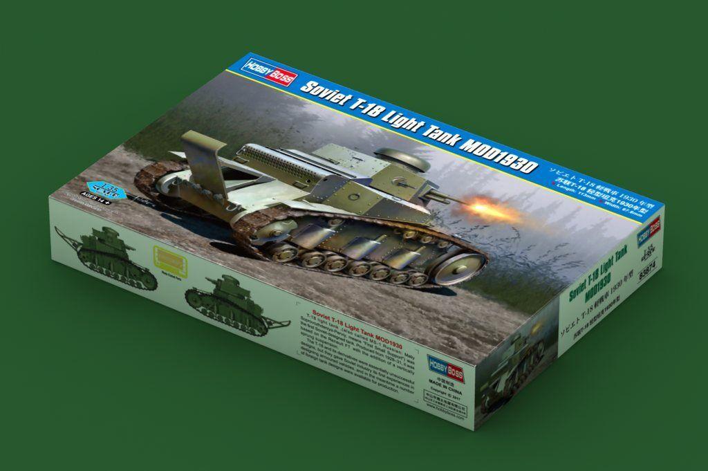 83874 Hobby Boss Soviet T-18 Light Tank MOD1930 1 35 Model Kit Armored Car DIY